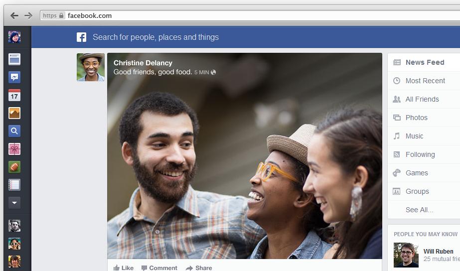 Ny layout för Facebooks nyhetsflöde