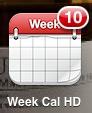 Week Calendar HD ikon med veckonummer